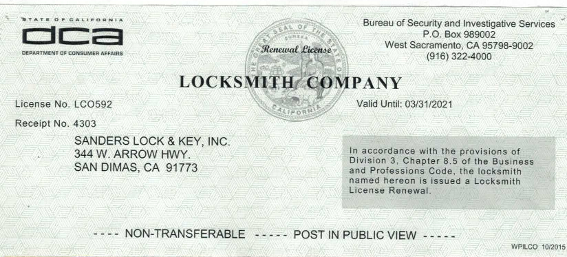 San Dimas Business License